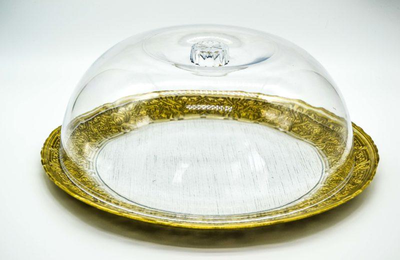 Glasglocke H:14 cm D:33 cm